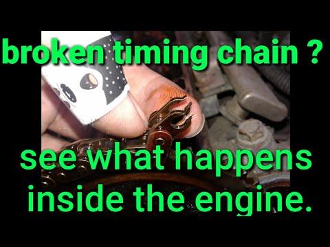 Broken timing chain