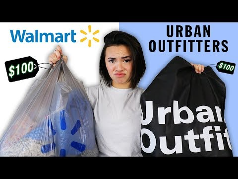 $100 CHALLENGE: WALMART vs. URBAN OUTFITTERS