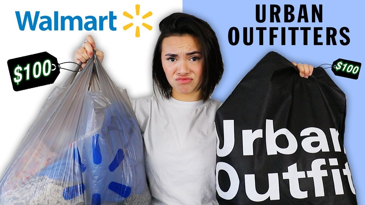 8d40985e541  100 CHALLENGE  WALMART vs. URBAN OUTFITTERS - YouTube