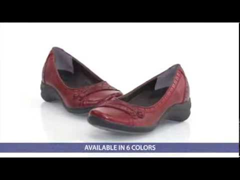 5c441b5e7437 Hush Puppies Women s Burlesque Ballerina Shoes at FootSmart - YouTube