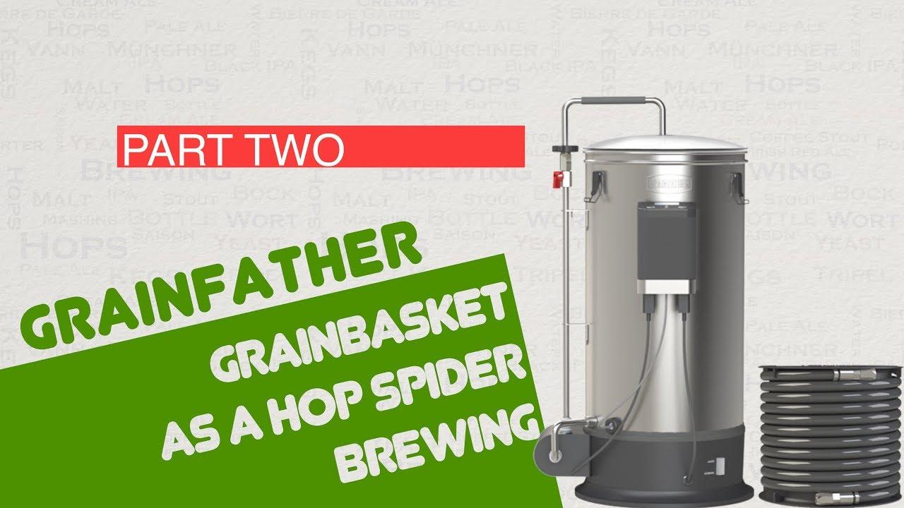 Grainfather Grainbasket as a Hop Spider Brewing 4k HD