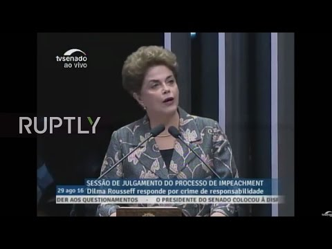 LIVE: Rousseff testifies in Senate on impeachment case