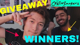 CHAINSMOKERS GIVEAWAY WINNERS ANNOUNCED!!!  - Tommy Today - 2017