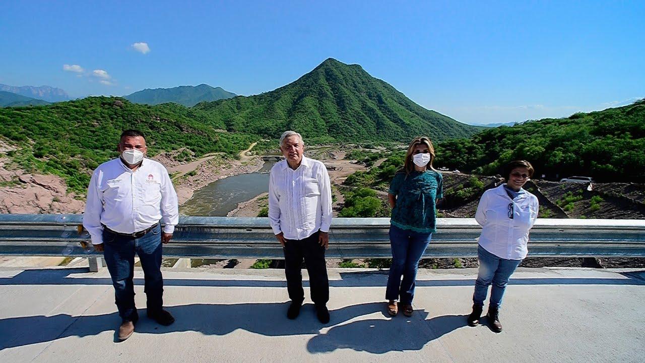 Mensaje desde la presa Los Pilares en Álamos, Sonora