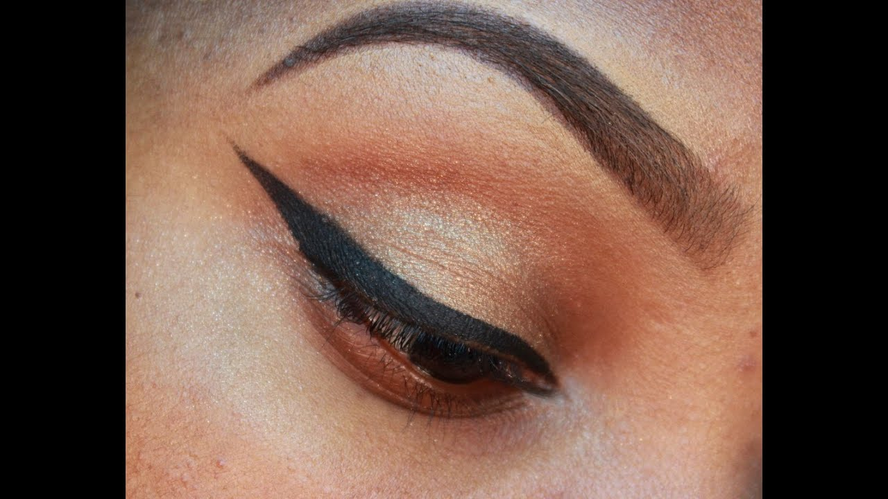 How to winged eyeliner tutorial using nyx cosmetics gel eyeliner how to winged eyeliner tutorial using nyx cosmetics gel eyeliner requested youtube baditri Image collections