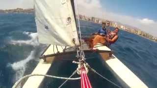 Catamaran crash