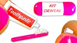Miniature toothpaste & toothbrush tutorial for dolls - DIY - YolandaMeow♡ thumbnail