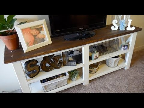 DIY: Farmhouse Style TV Stand