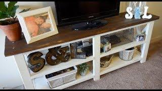 DIY: Farmhouse Style TV Stand