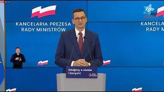 Konferencja prasowa premiera Mateusza Morawieckiego - Warszawa, 27.10.2020