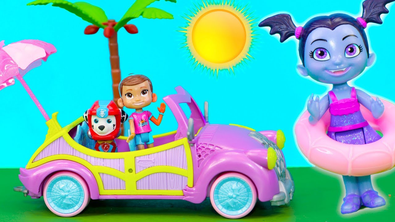 vampirina-batty-beach-cruiser-has-fun-at-the-pool-with-pj-masks-and-paw-patrol