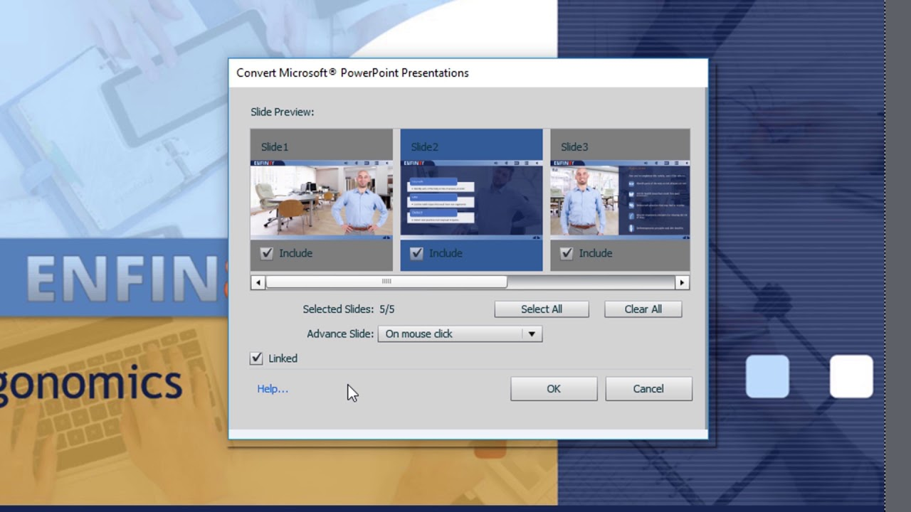 Import and edit PowerPoint presentations in Captivate