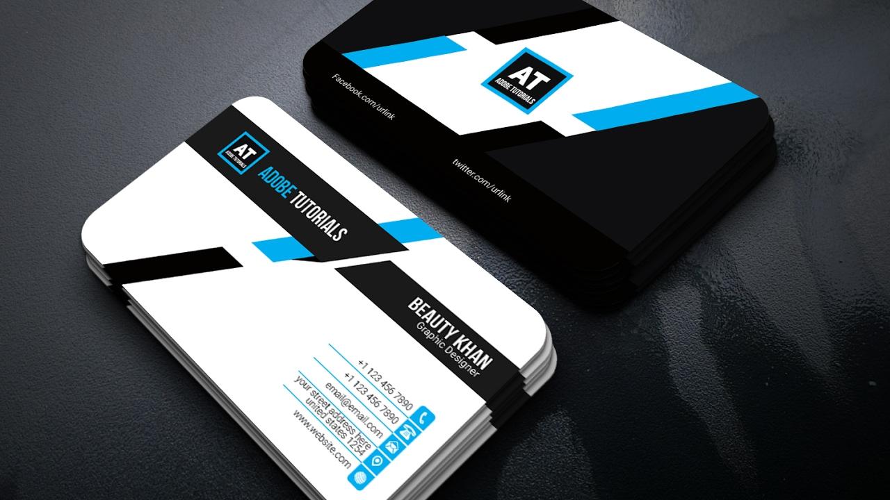 Adobe Illustrator Tutorial : Create a business card using a ...