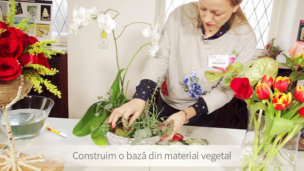 Tutorial Aranjament Floral Youtube