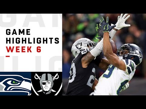 Seahawks vs. Raiders Week 6 Highlights | NFL 2018