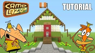 """Minecraft Tutorial: How To Make """"Jelly Cabin""""!! """"Camp Lazlo"""" (Survival House)"""