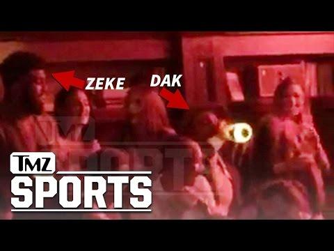 Ezekiel Elliott & Dak Prescott Go Monday Night Clubbin' | TMZ Sports