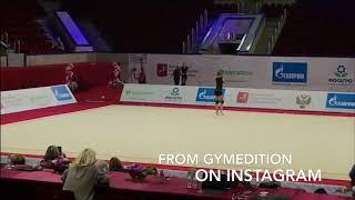 Alexandra Soldatova Clubs GPMoscow 2018 (Podium Training)