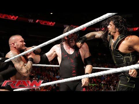 Roman Reigns vs. Kane & Randy Orton -- 2-on-1 Handicap Match: Raw, July 21, 2014 thumbnail