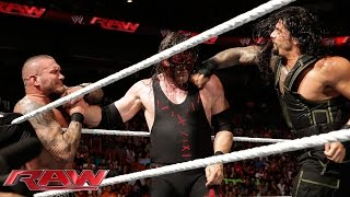 Roman Reigns vs. Kane & Randy Orton -- 2-on-1 Handicap Match: Raw, July 21, 2014