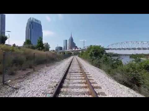 Riding the Front of an E8 - Tennessee Central Railway Museum to Downtown Nashville