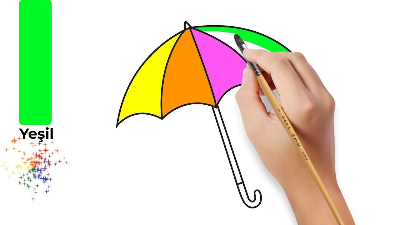 şemsiye çizim Ve Boyama çocuklar Için Boyama Boyama Sayfaları