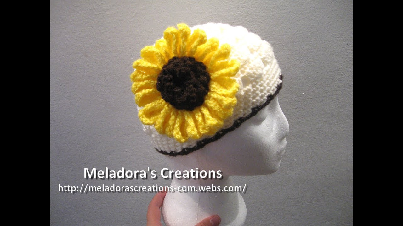 Crochet Tutorials On Youtube : Crocheted Sunflower Crochet Tutorial - YouTube