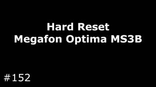 Сброс настроек Megafon Optima MS3B (Hard Reset Megafon Optima MS3B)(Сброс до заводских настроек Megafon Optima (Alcatel MS3B), позволяет убрать забытый графический ключ, разблокировать..., 2016-09-18T18:42:09.000Z)