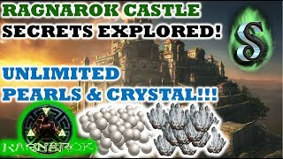 RAGNAROK CASTLE SECRETS EXPLORED - SECRET CAVE TO UNLIMITED CRYSTAL AND PEARLS - ARK 2017