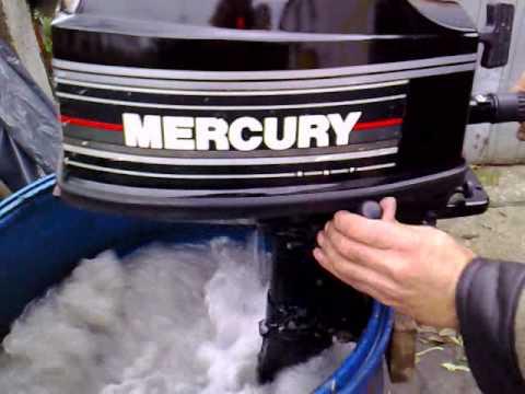 Mercury 4 hp outboard motor 1995r 2 stroke dwusuw youtube for Mercury 4 hp boat motor