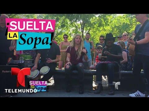 Shakira interpretó su canción Chantaje en las calles de NY | Suelta La Sopa | Entretenimiento