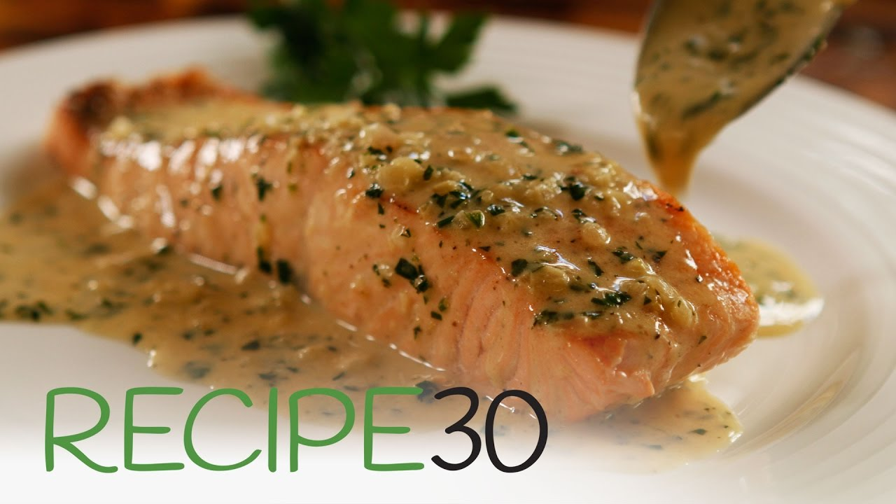 5678dd1ce623 Perfect Pan Seared Salmon with Lemon butter Cream Sauce and Crispy Skin