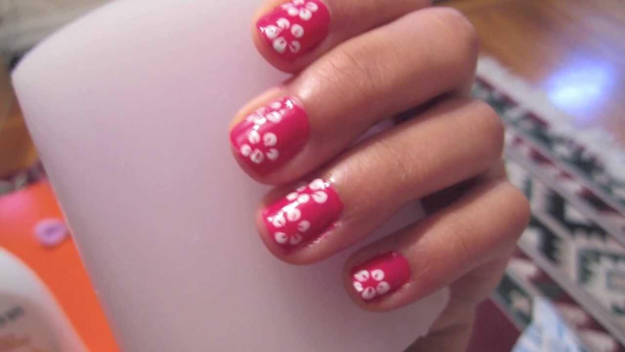Hawaiian flower nails youtube hawaiian flower nails izmirmasajfo