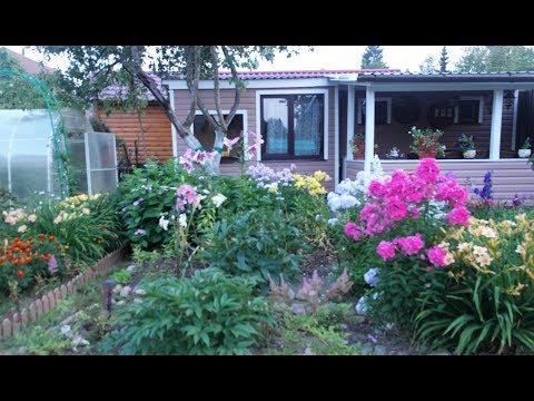 Мой прекрасный сад. Сказка на 4 сотках с минибассейном , устроенным в цветнике!!!