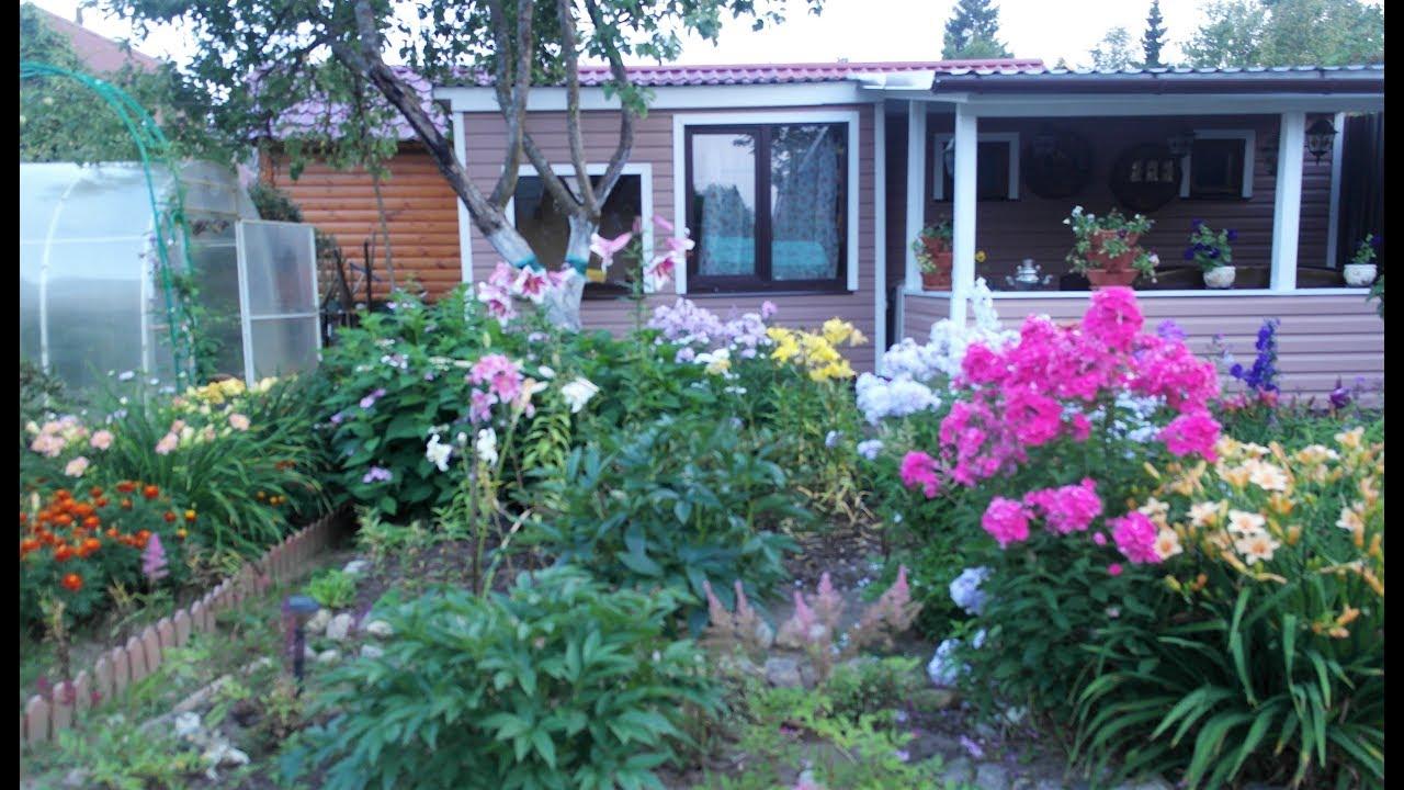 Прекрасный сад - сказка на 4 сотках с минибассейном , устроенным в цветнике!!!