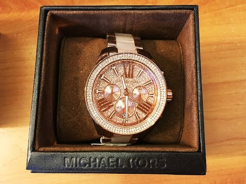 0b7a92c8cdd6 Product Review  Michael Kors Crystal Watch MK6096 - YouTube
