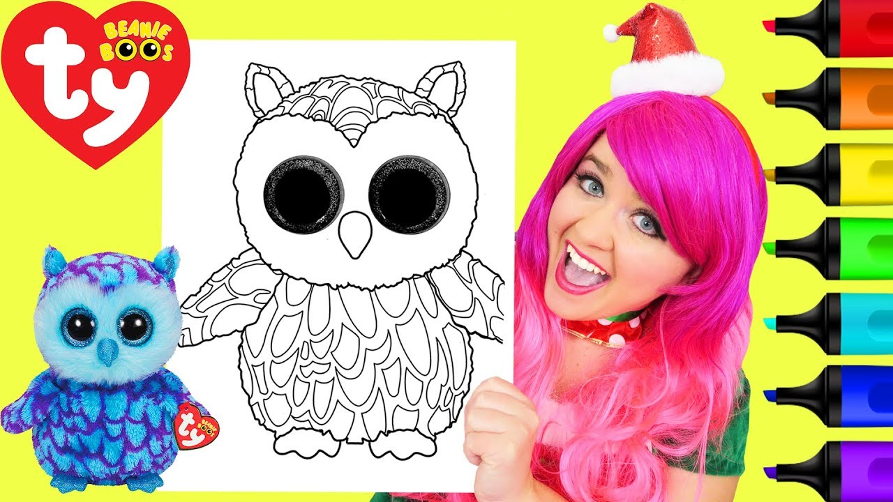 Coloring Ty Beanie Boos Oscar Owl Coloring Page Prismacolor Markers | KiMMi THE CLOWN