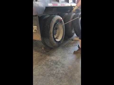 Changing semi truck tire in under 1 minute