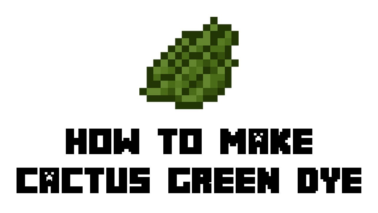 Minecraft Survival How To Make Cactus Green Dye Youtube