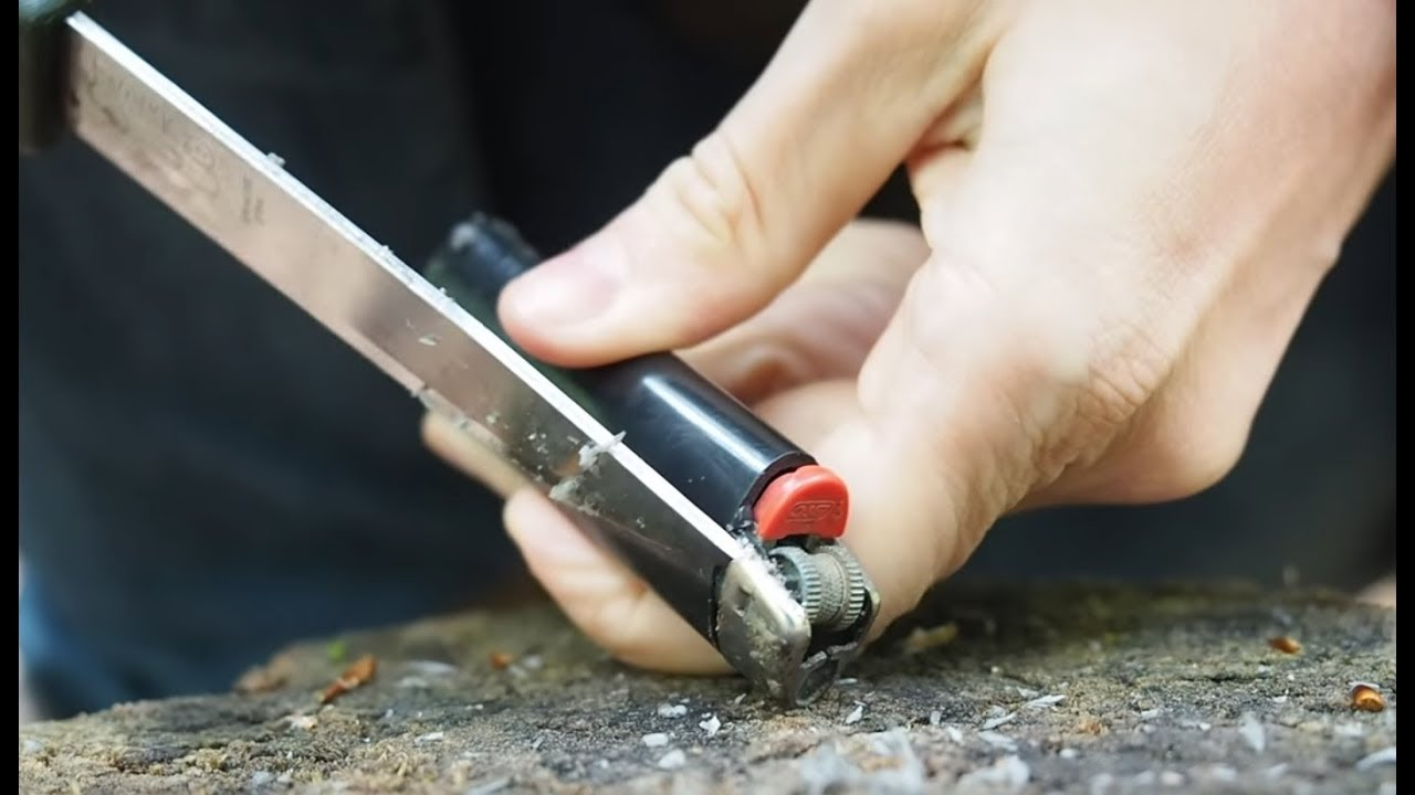 Image result for Utilize an empty lighter to Begin a flame