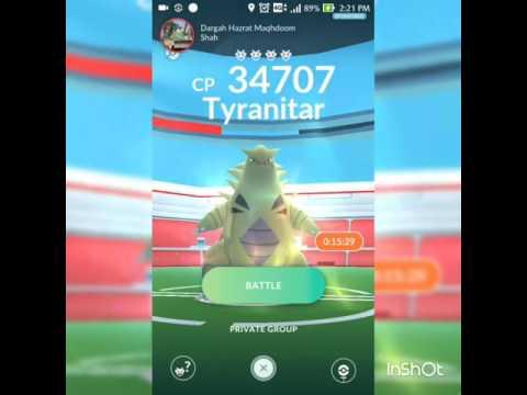 Raiding 34707CP Tyranitar in Pokémon Go in India | Best Gym Raid Pokemon GO