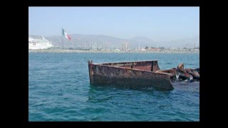 THE S.S. CATALINA REMOVED FROM THE ENSENADA HARBOR