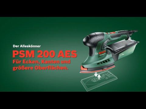 bosch multischleifer psm 200 aes youtube. Black Bedroom Furniture Sets. Home Design Ideas