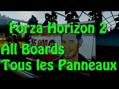 Forza Horizon 2 : All Board Location / Position de tous les Panneaux