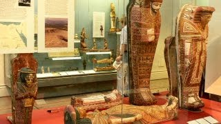 Egyptian Mummies at the British Museum in London England