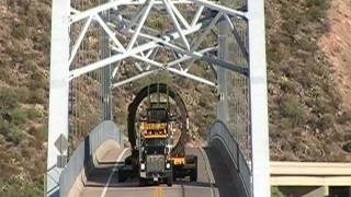 285 Ton Oversize Load Putting A Flat Spot In The Roosevelt Lake Bridge 8-16-11