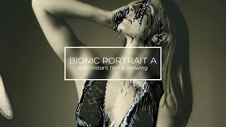 Bionic Portrait A // Largeformat instant photography & drawing