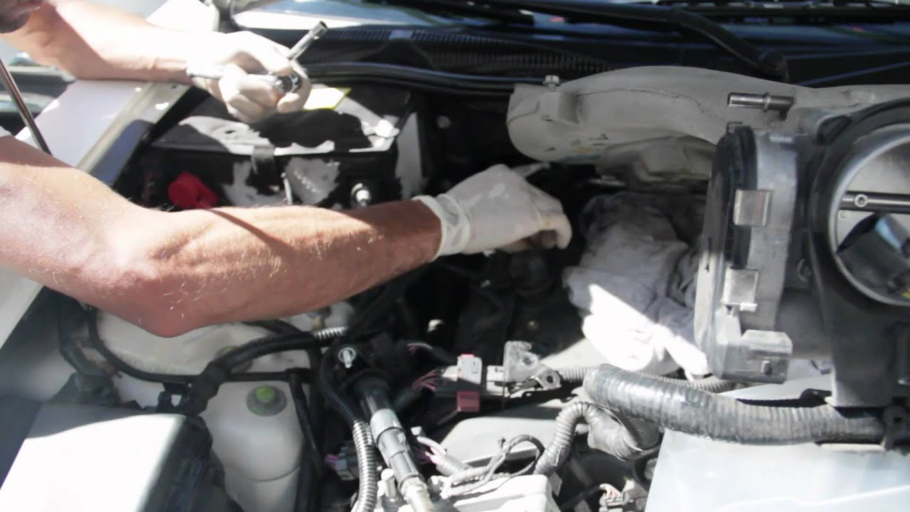 maxresdefault hd 2006 cadillac cts 3 6l spark plug replacement youtube  at bayanpartner.co