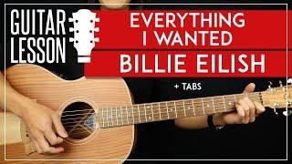 Everything I Wanted Guitar Tutorial  🎸 Billie Eilish Guitar Lesson  Easy Chords + TAB 
