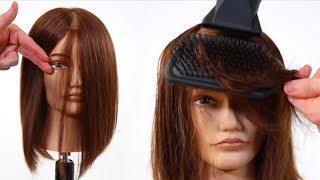 One Length Haircut Tutorial + Flat Wrap Blow Dry Technique